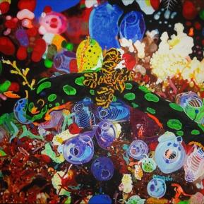 Meereslebewesen, Acryl auf Leinwand, 2013, 120 cm x 80 cm, verkauft