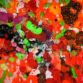 Manteltiere I, Acryl auf Leinwand, 2013, 120 cm x 80 cm