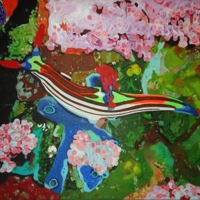 Meeresschnecke, Acryl auf Leinwand, 2013, 100 cm x 80 cm